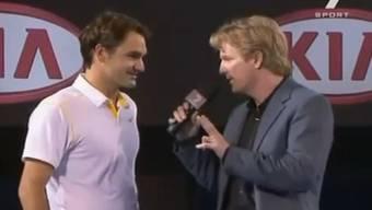 Roger Federer und Jim Courier