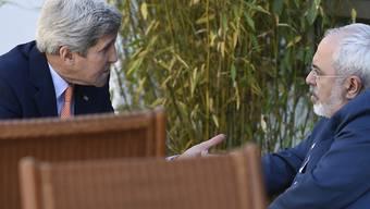US-Aussenminister John Kerry im Gespräch mit dem iranischen Aussenminister Sarif (Archiv)