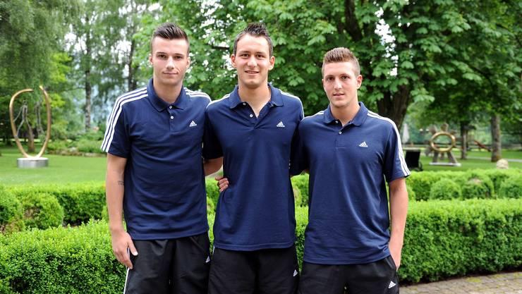 Stjepan Vuleta, Simon Grether und Mirko Salvi haben den Sprung ins Basler Profi-Kader geschafft