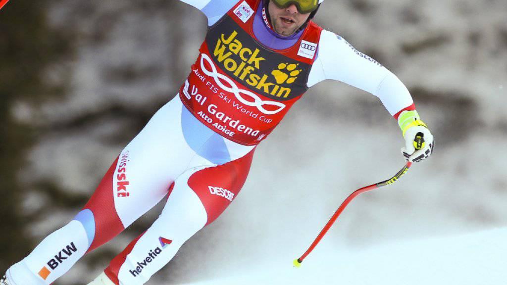Beat Feuz klassierte sich in der Abfahrt in Val Gardena erstmals unter den ersten drei