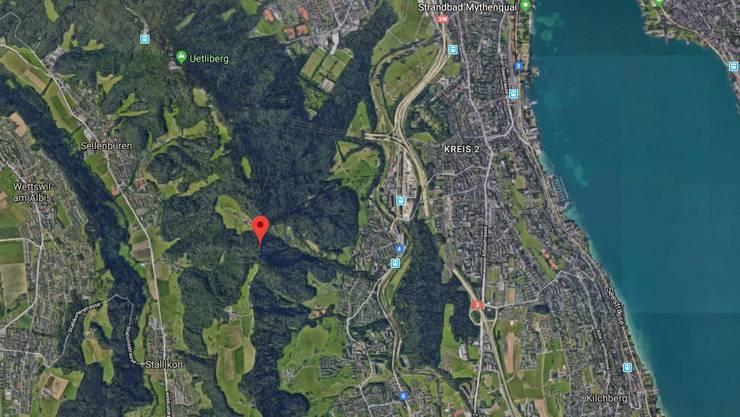 Die Vermisste wurde zuletzt auf der Gratstrasse bei der Fallätsche (rot markiert) gesehen.