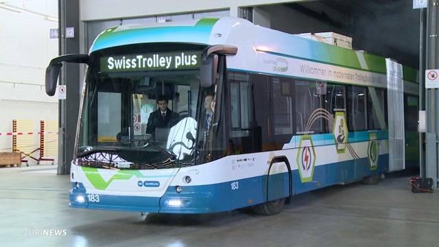 Blaue Stadtbusse werden grün