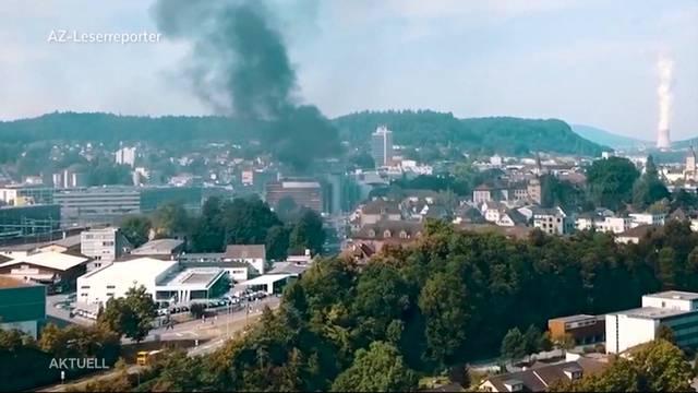 Grossbrand in Aarau verursacht mindestens 300'000 Franken Schaden