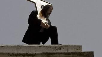 Ein Pilger in Jerusalem