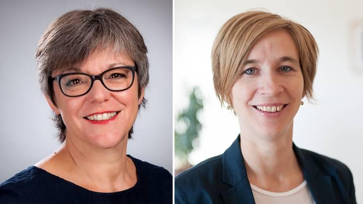 Regula Dell'Anno (SP-Stadträtin) und Karin Bächli (SP-Einwohnerrätin)