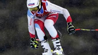 Corinne Suter musste sich in der ersten Saison-Abfahrt einzig der Tschechin Ester Ledecka um 0,35 Sekunden geschlagen geben