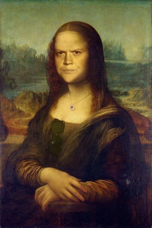 Auch schon als Mona Lisa hässig