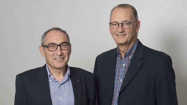 Wollen für die CVP in die Stadtregierung: Rolf Schaeren (links, bisher) und Reto Siegrist (neu).
