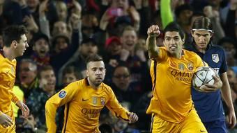 Doppeltorschütze: Barcelonas Luis Suarez dreht das Hinspiel gegen Atletico mit zwei Treffern