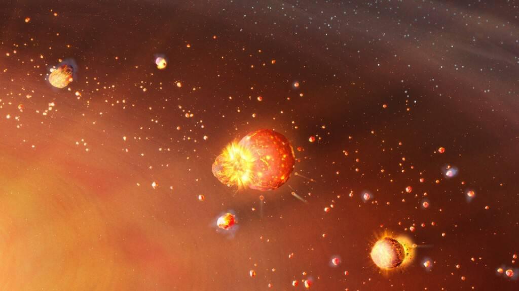Die Planeten des Sonnensystems formten sich in zwei Wellen