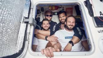 Das Zürcher Ruderer-Team Swiss Mocean liegt 1600 Kilometer vor dem Ziel auf Platz 3.