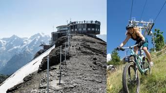 Salomé Burki unterwegs mit ihrem Mountainbike. Der Inferno-Triathlon führt sie bis aufs Schilthorn.