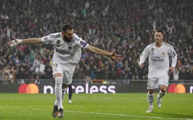 Karim Benzema (l.) ist bester Torschütze bei den Königlichen.