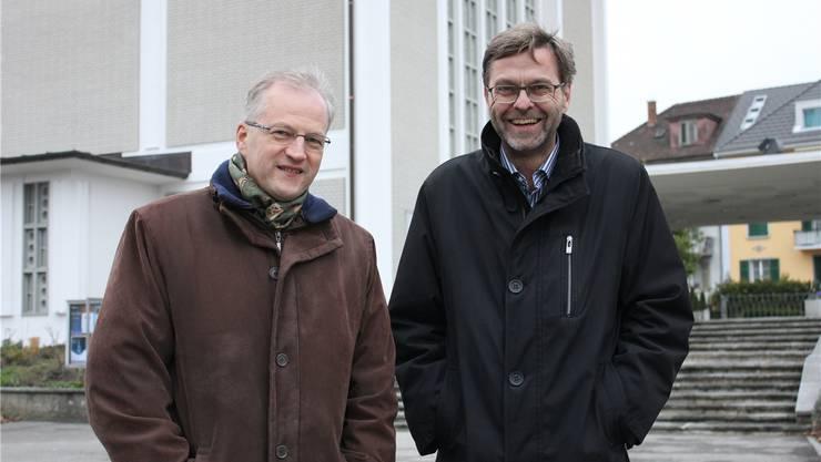Leitung des «Pastoralraums SO 11»: Pfarrer Mario Hübscher (links) und Diakon Andreas Brun.
