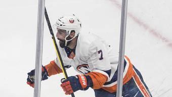 Torjubel nach fast 100 Minuten: Jordan Eberle von den New York Islanders