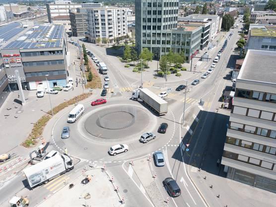Der Verkehrsdienst am Gaiskreisel beschränkte sich auf die Regelung des Verkehrs Richtung Kreuzplatz.