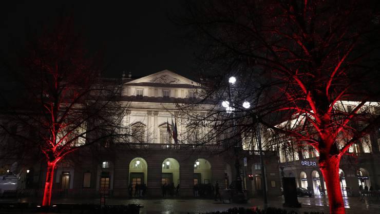 Das «Teatro alla Scala» am Abend des 7. Dezembers 2018.