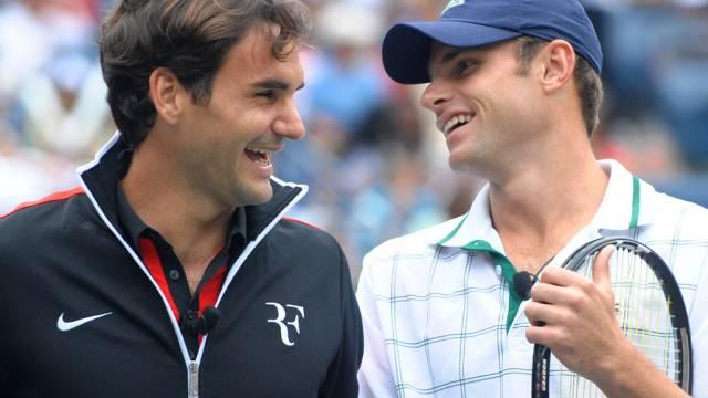Roger Federer könnte im Halbfinal auf Andy Roddick treffen