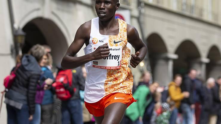 Der Kenianer Geoffrey Kamworor im Mai dieses Jahres beim GP von Bern