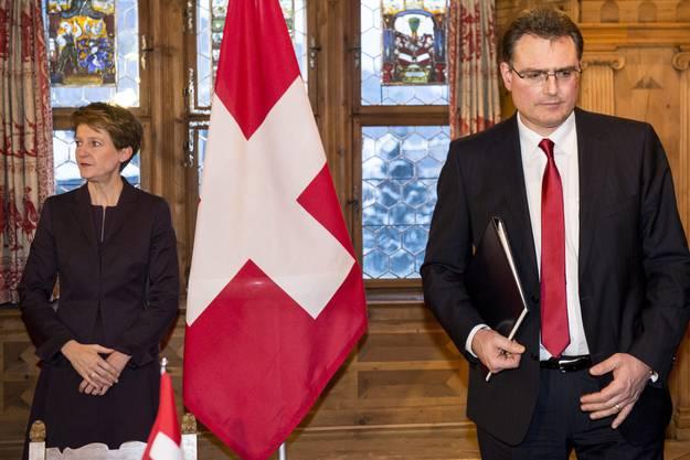 Bundesrätin Sommaruga und SNB-Chef Jordan waren die beiden Hauptakteure am chinesisch-schweizerischen Spitzentreffen am WEF.
