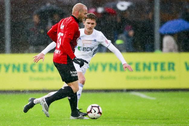 Marcco Schneuwly am Ball.