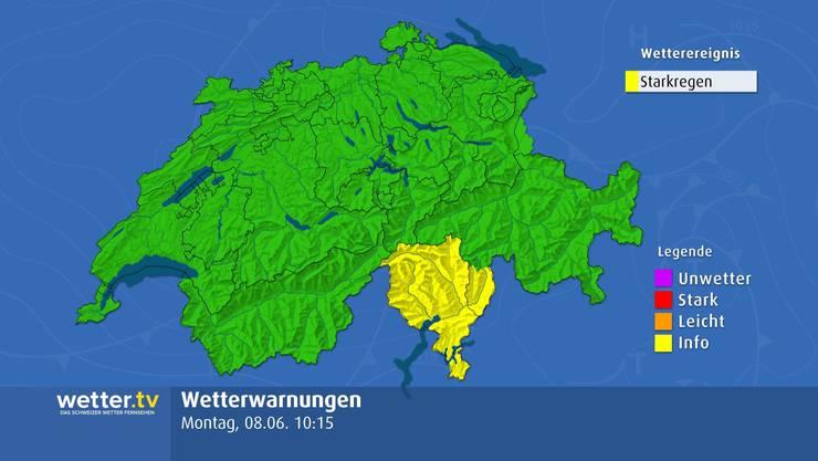 Bis Montagabend ist im Tessin weiterhin mit starken Regenfällen und deswegen auch mit Überflutungen zu rechnen.