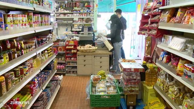 Lebensmittelladen ohne Lebensmittel