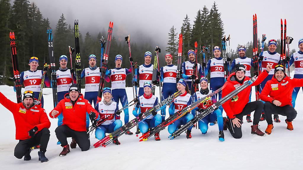 Die Schweizer Equipe freut sich auf den Winter.