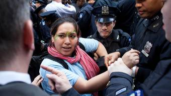 Die Kundgebung in New York wurde von der Polizei aufgelöst