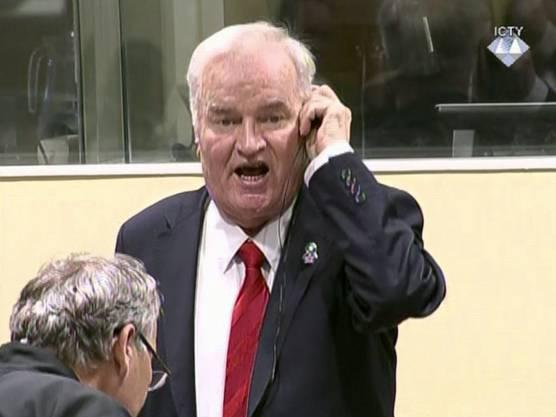 Ex-General Mladic war 2017 in erster Instanz zu lebenslanger Haft verurteilt worden. Er legte Berufung ein.
