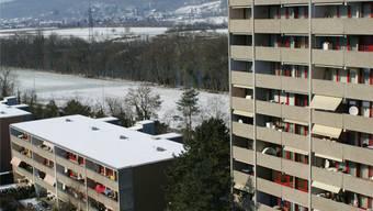 Hochhäuser und niedere Wohneinheiten prägen den Augarten. ach