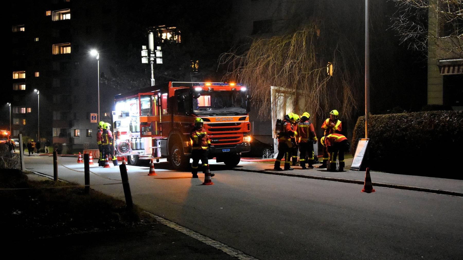 Die Feuerwehr brachte den Brand schnell unter Kontrolle.