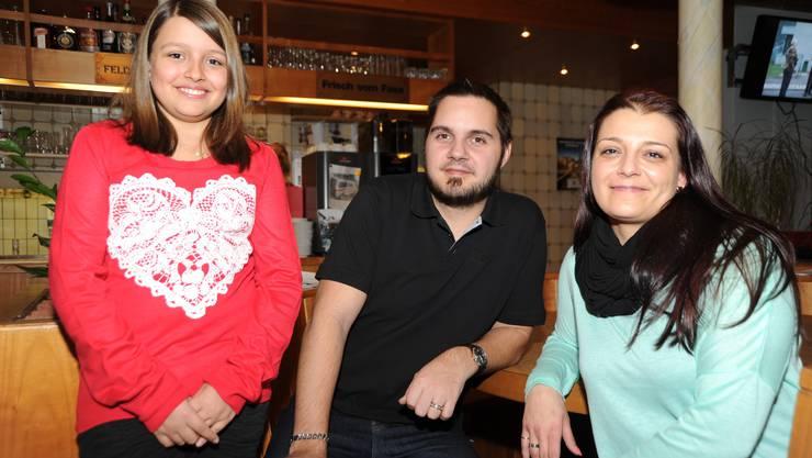 Die drei Neuen Sheienne Peixeiro, Marco und Claudia Widmer