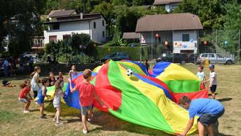 Der mobile Spielplatz feiert Eröffnung auf der Spielwiese in Trimbach