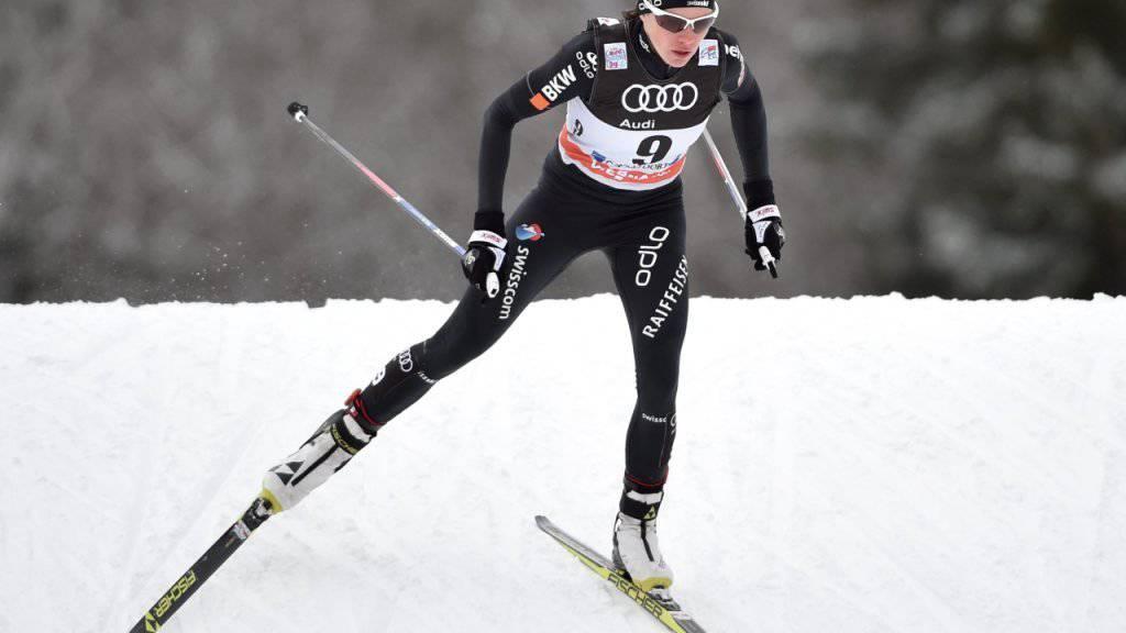 Nathalie von Siebenthal machte in Toblach einen Rang in der Gesamtwertung der Tour de Ski gut