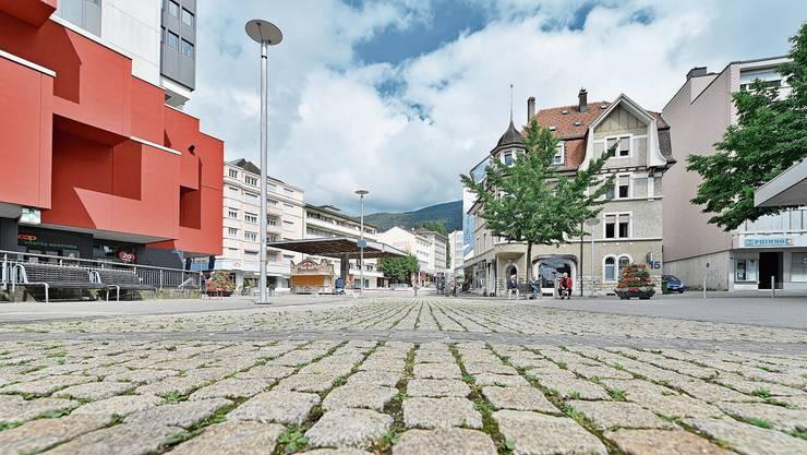 Stadtzentrum Grenchens während des Lockdowns.
