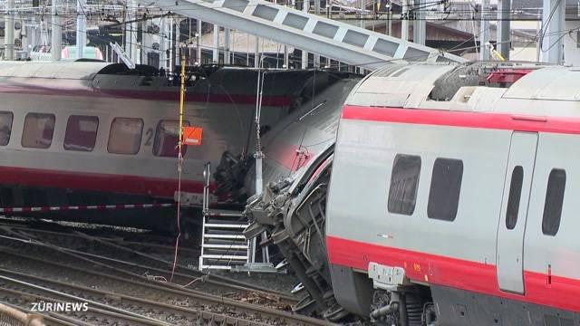 7 Verletzte bei Zugunglück