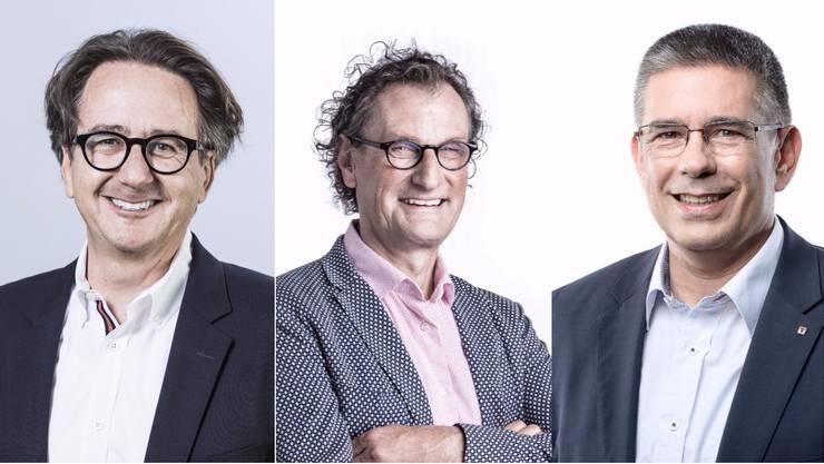 V.l.n.r:  Erich Obrist, Geri Müller und Markus Schneider.