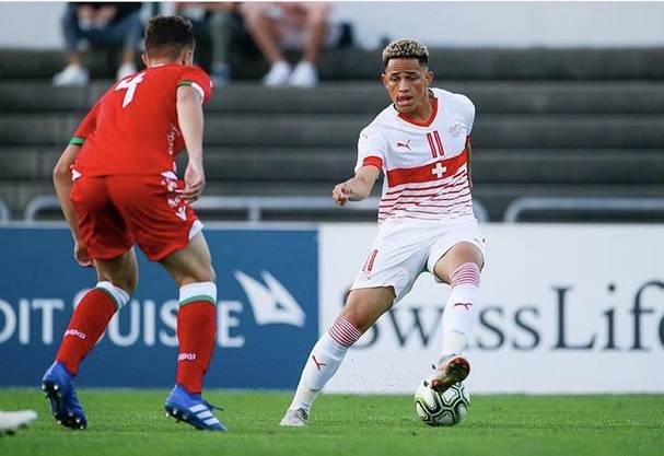 Die Schweizer U19 um FCB-Flügel Noah Okafor (rechts) konnte ihr Auftaktspiel der U19-EM-Qualifikationsrunde gegen Weissrussland in Basel gewinnen.