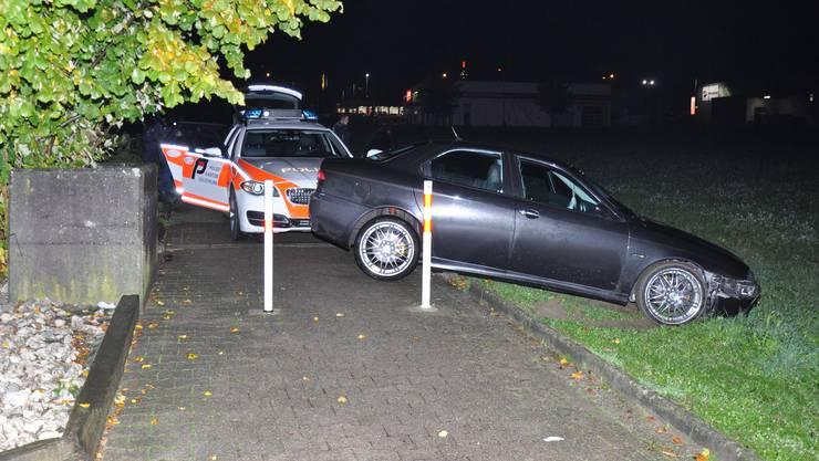 Zwei Pfosten bremsten den Autolenker aus.