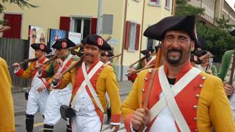 Die Lenzbruger Freischaren werfen ob der Waffeninitiative ihre Flinten nicht ins Korn. Foto: HH