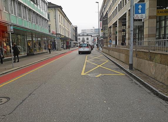 Wer hier parkiert, zahlt 40 Franken Busse.