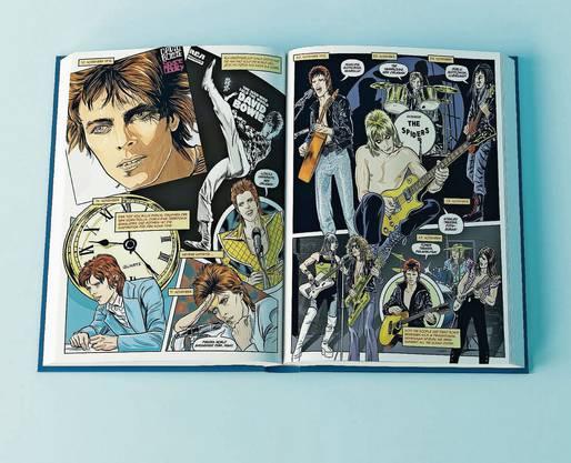 «Bowie: Sternenstaub, Strahlenkanonen und Tagträume» Michael Allred mit Steve Horton und Laura Allred Cross Cult 160 Seiten.