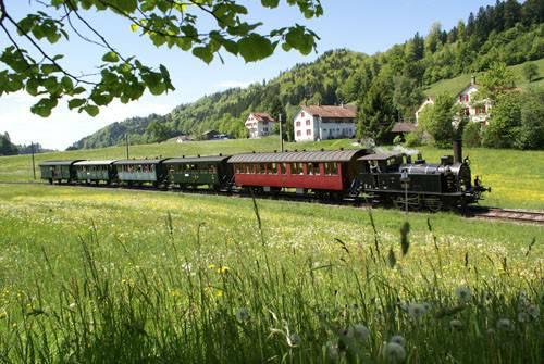 Der DVZO führt u.a regelmässige Fahrten von Bauma im zürcherischen Tösstal nach Hinwil durch. Bild © DVZO