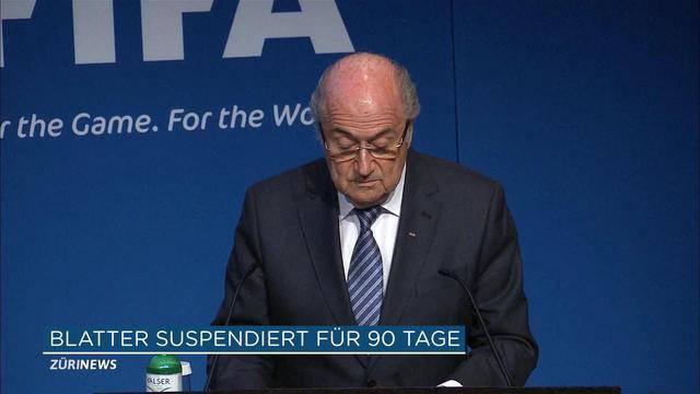 Blatter für 90 Tage suspendiert