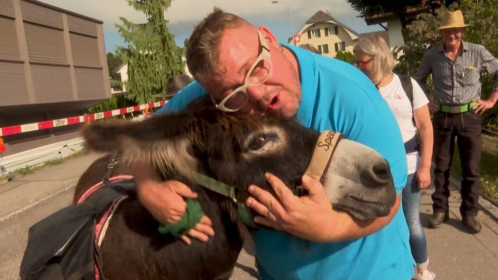 Zwei Esel im Aargau: Tag 3