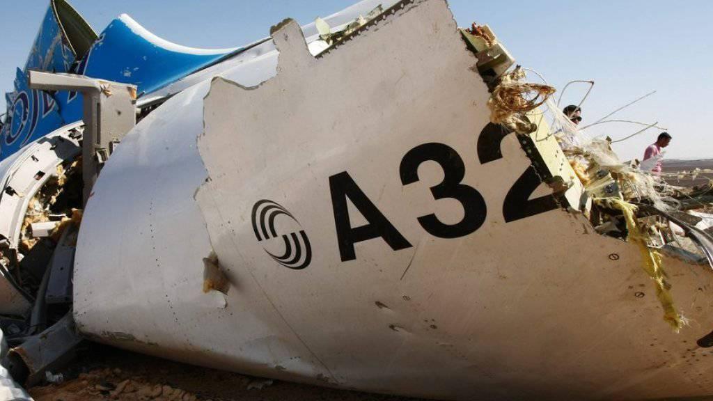 Wrackteil der über der Sinai-Halbinsel abgestürzten Passagiermaschine.