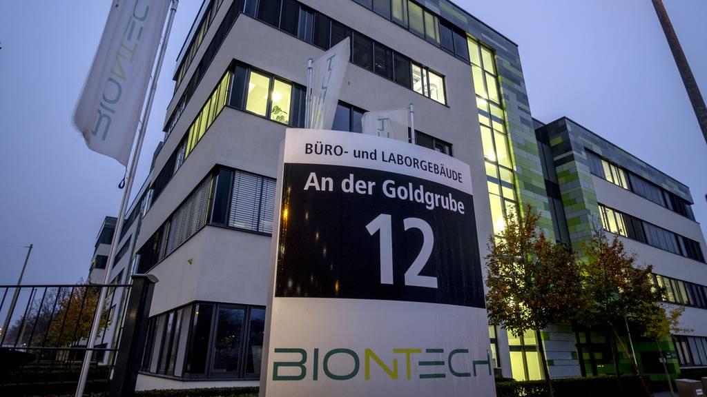 Das Firmengebäude von Biontech in Mainz