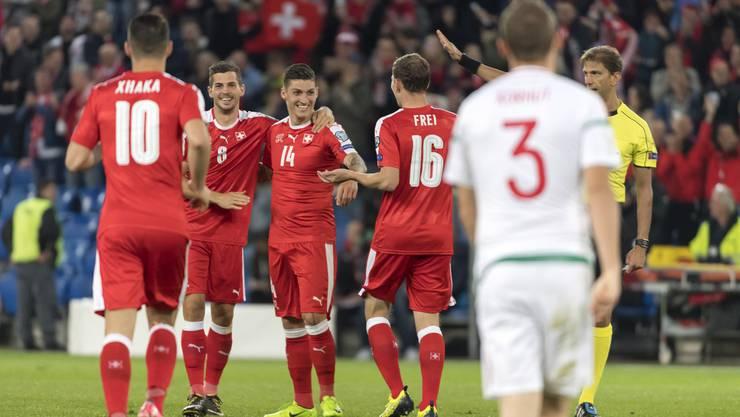 Glückliche Gesichter im Schweizer Nationalteam