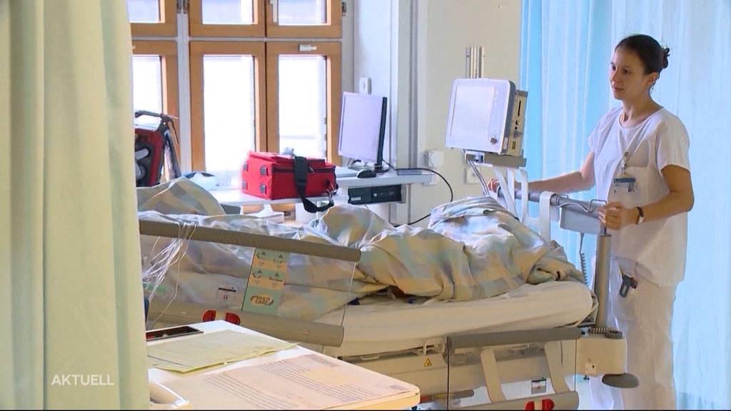 Im Kantonsspital Baden sind 100 Betten frei